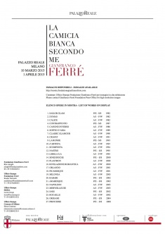 The white shirt according to me. Gianfranco Ferré